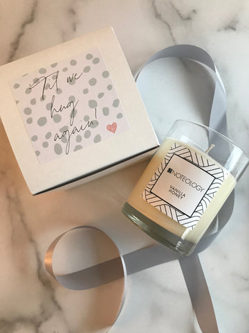 'Til we Hug Again Personalized Candle