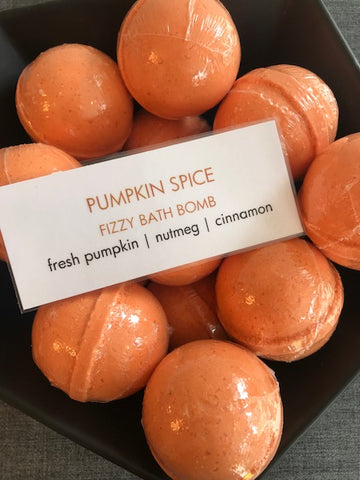 Pumpkin Spice Fizzy Bath Bomb | Note Fragrances