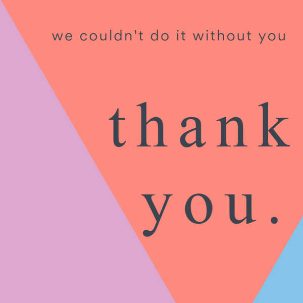 We Couldn't do it Without you, Thank you--Label