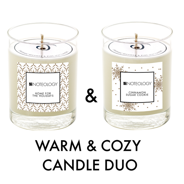 Warm & Cozy Candle Duo | Noteology