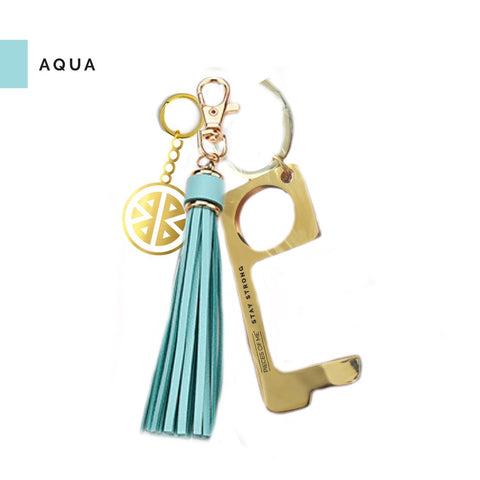 Don't Touch That Keychain in Aqua