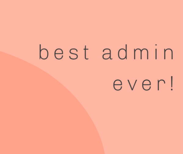 Best Admin Ever!--Label