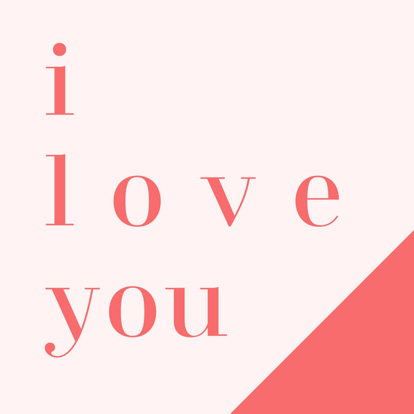 I love you --Label