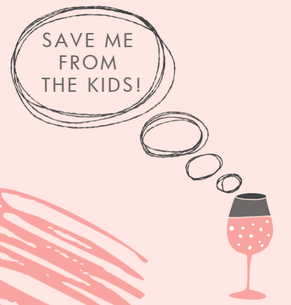 Save me from the kids!--Label