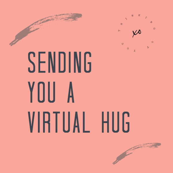 Sending you a Virtual Hug Personalized Candle