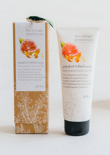 Grapefruit & Blood Orange Light Lotion | Cottage Greenhouse