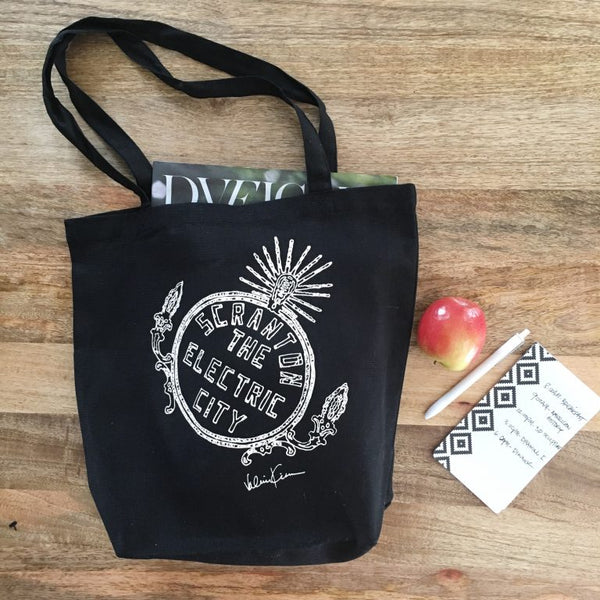 Electric City Stationary & Tote Bag by Valerie Kiser Design