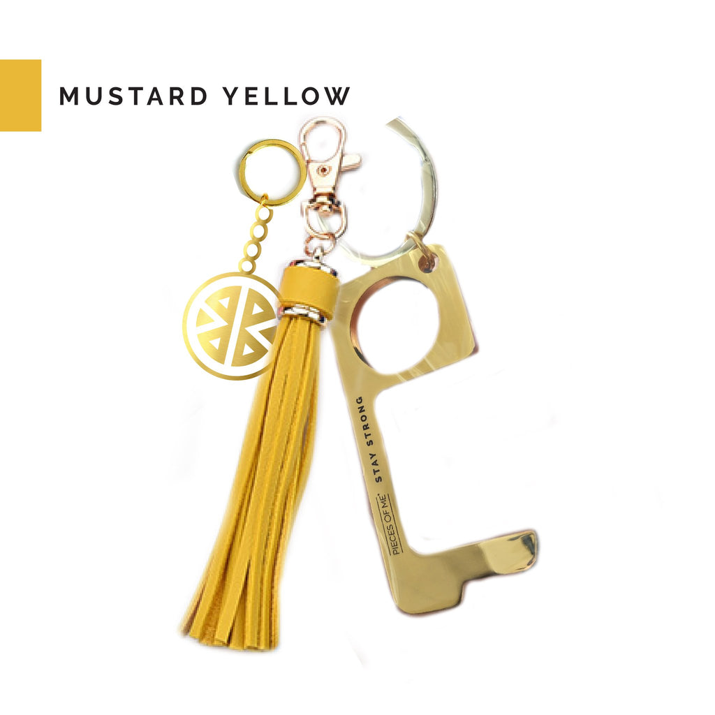 Don't Touch That Keychain in Mustard Yellow