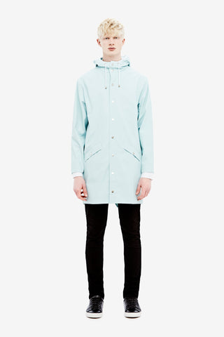 RAINS Long Jacket - Wan Blue Men's - LA LUCE  - 2
