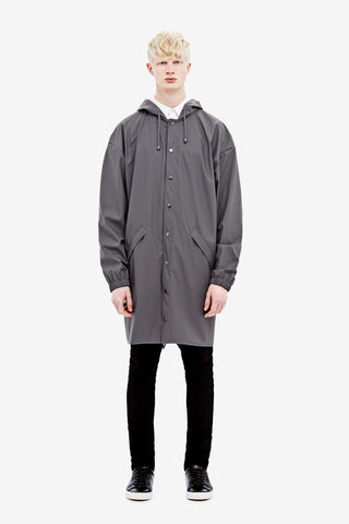 RAINS Loose-fit Jacket - Smoke Men's - LA LUCE  - 2