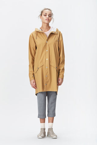 RAINS Long Jacket - Kakhi
