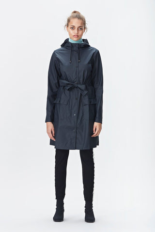 RAINS Blue Curve Jacket