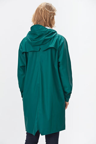 RAINS Long Jacket Dark Teal