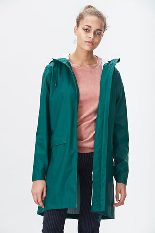 RAINS W Coat - Dark Teal