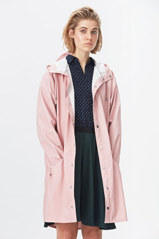 Rains Long Jacket - rose, Pláštěnky - LA LUCE