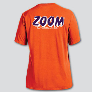 ZOOM Orange/Purple Performance Short Sleeve T-Shirt