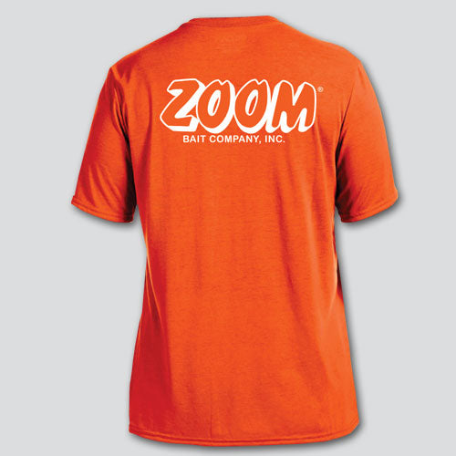ZOOM Orange/White Performance Short Sleeve T-Shirt