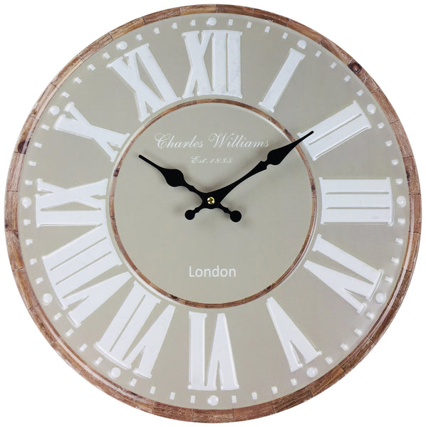 Stone Green Metal Wall Clock 40cm