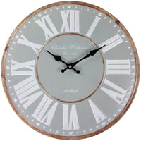 Stone Brown Wall Clock 40cm