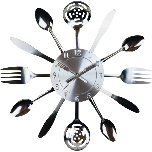 Kitchen Utensil & Cutlery Wall Clock 38cm