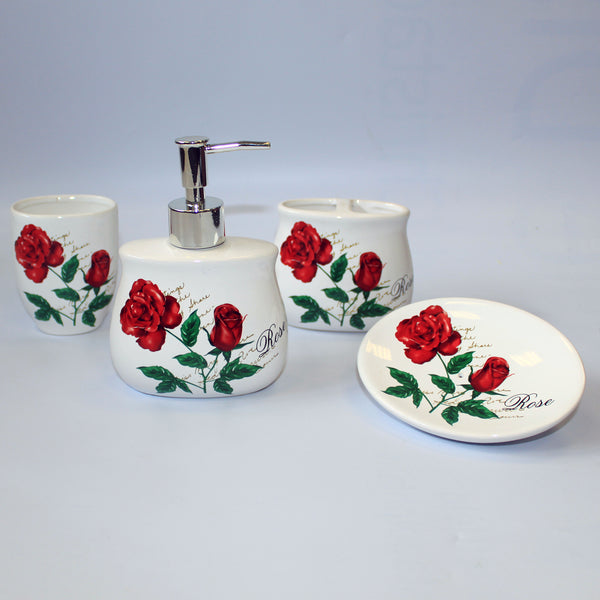 Ceramic Bath Set - Roses in Bloom
