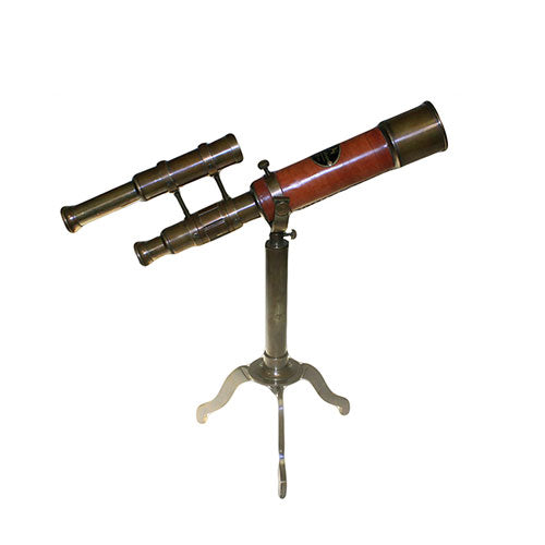 Telescope on Brass Stand with Sights