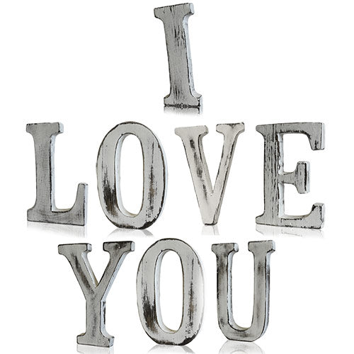Shabby Chic Letters - I LOVE YOU