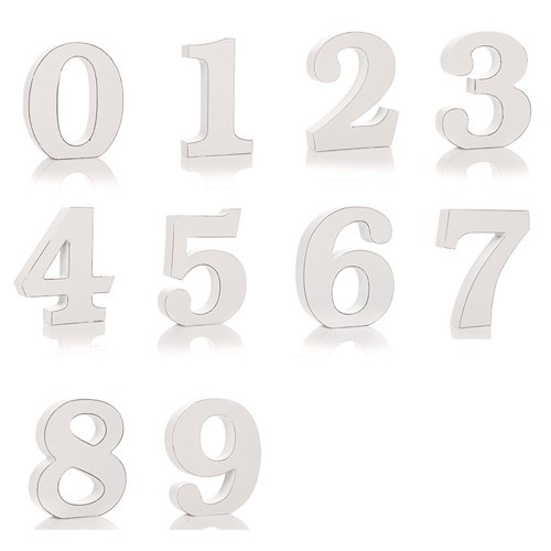 Shabby Chic Numbers 1 through 0