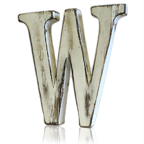 Shabby Chic Letter - W