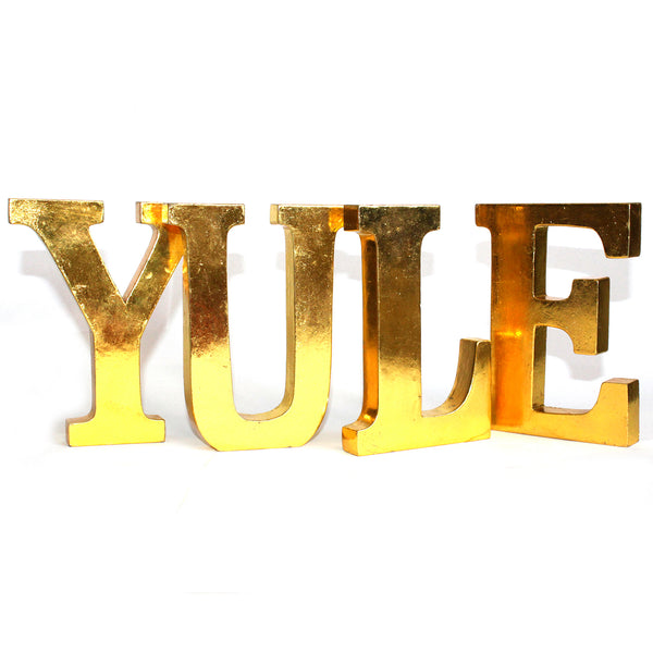 Shabby Chic Letters Gold - YULE
