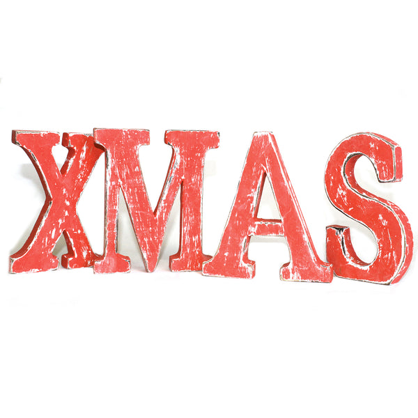Shabby Chic Letters Red Wash - XMAS