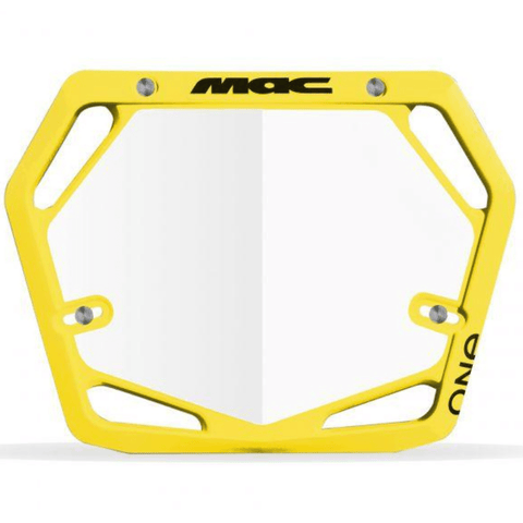 MAC One Pro Number Plate - Yellow