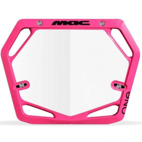 Mac One BMX Number Plate Pro Hot Pink