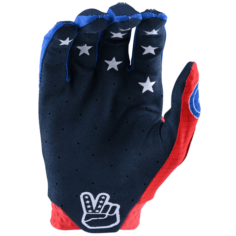 Cimdi Troy Lee Designs AIR Star & Stripes - Red/Blue 2020