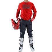 Troy Lee Designs GP MX Set Pinstripe - Red/Gray 2021
