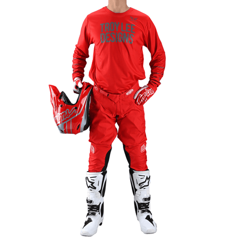 Troy Lee Designs GP Jersey Pinstripe - Red/Gray 2021
