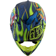 Ķivere Troy Lee Designs SE4 Composite Eyeball - Navy/Yellow 2020