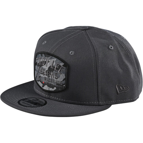 Cepure Troy Lee Designs Blockworks Camo Snapback - Graphite 2020