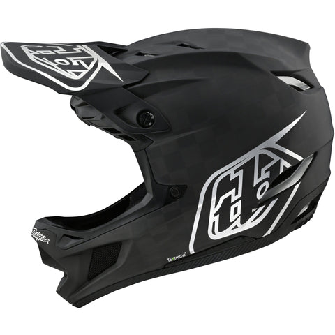 Troy Lee Designs D4 Carbon MIPS Helmet Stealth - Black/Silver 2020