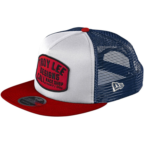 Troy Lee Designs Blockworks Snapback Hat - White/Blue 2020