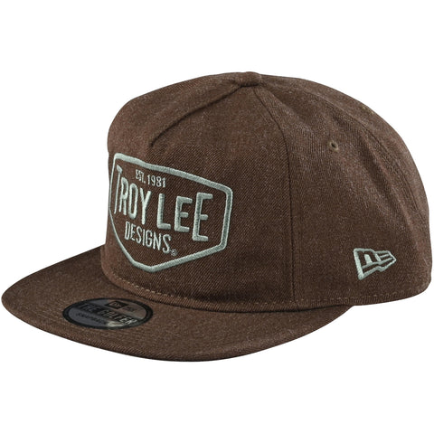 Cepure Troy Lee Designs Motor Oil Snapback - Heather Brown 2020