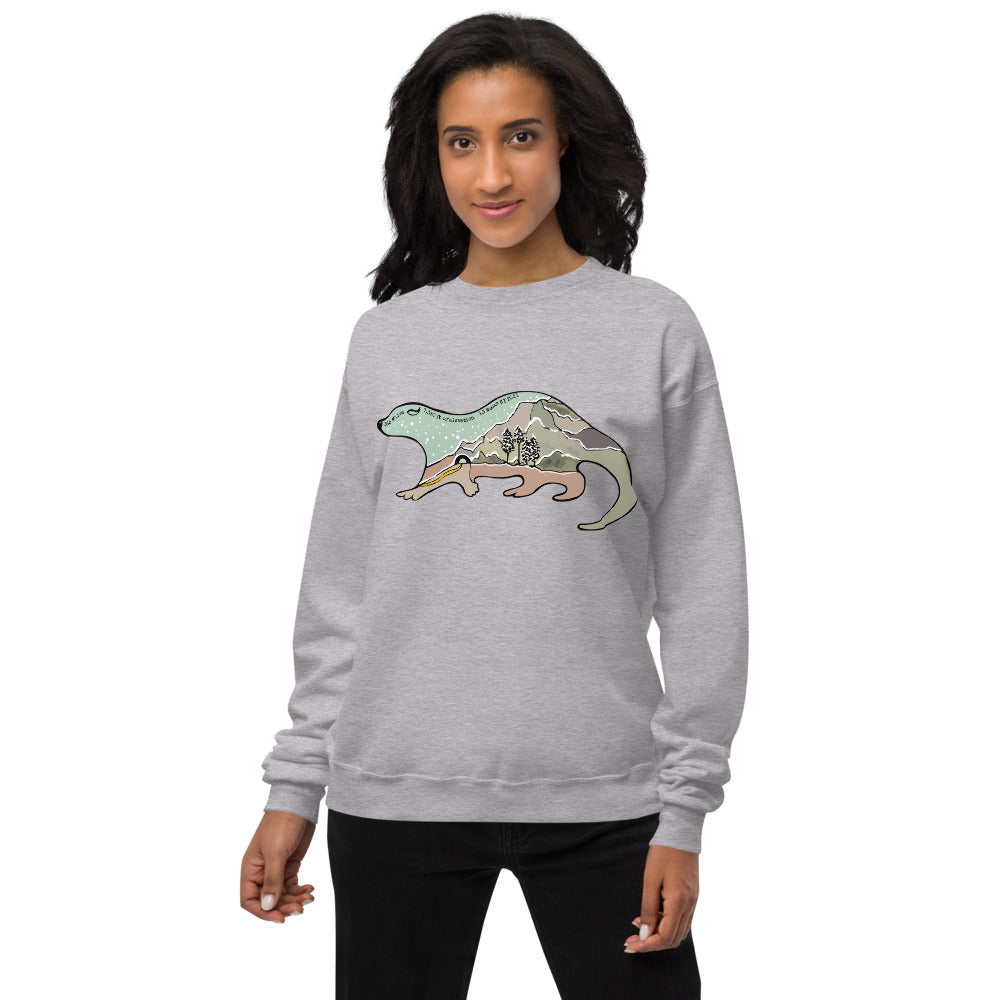 The #Onward Challenge Illustrated Otter Finisher Sweatshirt - Free when you complete 5 Challenges