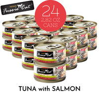 Fussie Cat Premium Tuna with Salmon Formula in Aspic Canned Food