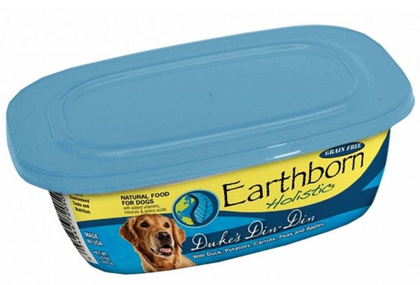 Earthborn Holistic Duke's Din Din Gourmet Dinners Grain Free Moist Dog Food Tubs