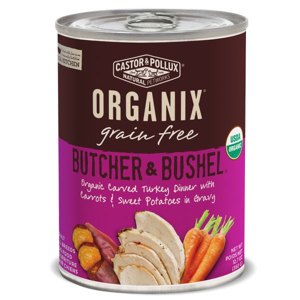 Castor and Pollux Organix Butcher and Bushel Organic Carved Turkey Dinner Canned Dog Food