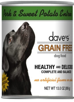 Dave's Grain Free Roasted Pork Dinner Canned Dog Food