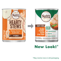 Nutro Hearty Stew Tender Chicken, Carrot & Pea Stew Cuts in Gravy Adult Canned Dog Food