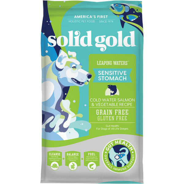 Solid Gold Leaping Waters Adult Cold Water Salmon and Vegetable Recipe Dry Dog Food