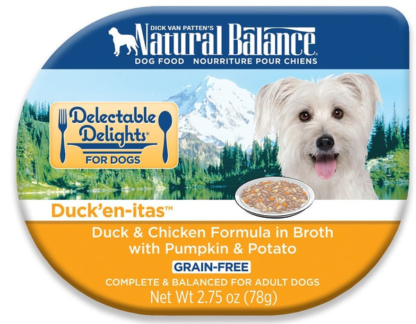 Natural Balance Delectable Delights Duckenitas Grain Free Duck and Chicken Formula in Broth with Pumpkin and Potato Wet Dog Food