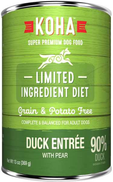KOHA Grain & Potato Free Limited Ingredient Diet Duck Entree with Pear Canned Dog Food